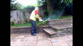 miller tools ltd mt 9999 20 petrol chainsaw demonstration