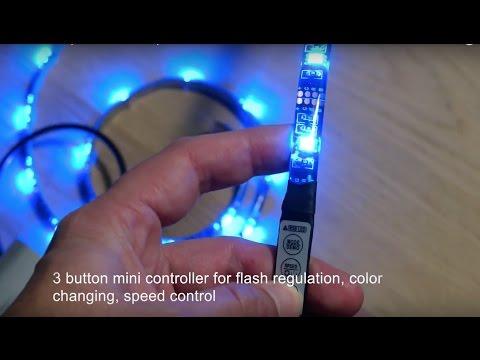 Flexible USB powered RGB Strip