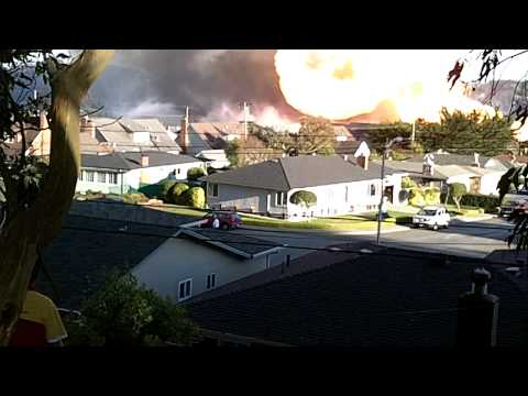 explosion in San Bruno CA 5 mins after