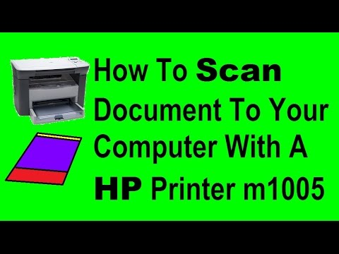 how to scan a document to your computer with a hp printer m1005