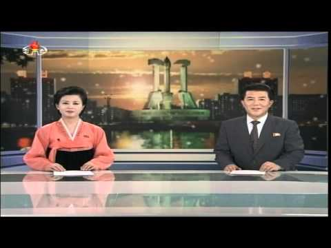 Evening news on North Korean TV, January 1 2014