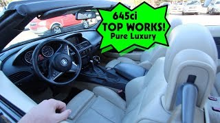 The Convertible Top is Working on the BMW 645ci Coupe!!!! Plus had it Cleaned