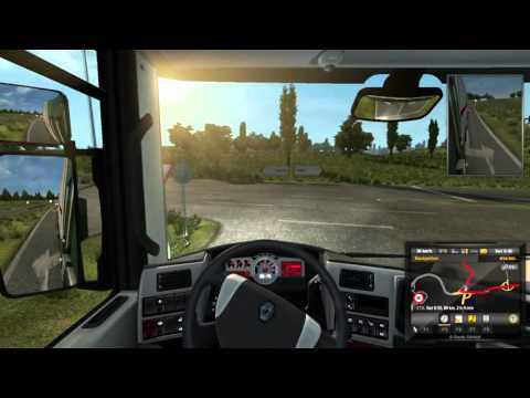 Euro Truck  Sim 2 Delivery to the UK.....ferry and train crossing