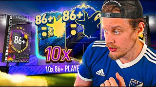 100K FOR THIS?! 10X GUARANTEED 86+ UPGRADE PACK! FIFA 20 Ultimate Team