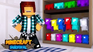 Minecraft Survival #16 - QUARTO DAS ARMADURAS !!