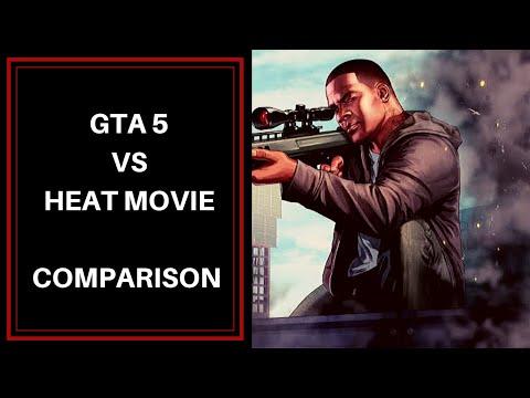 GTA 5 vs Heat movie | Game vs movie comparison  |Gamer@Malayali