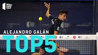 #Top5 Puntazos Alejandro Galán 2020 | World Padel Tour