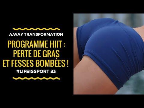Programme HIIT : Perte de GRAS, FESSES BOMBÉES & ABDOS DESSINÉS ! | #LifeIsSport83