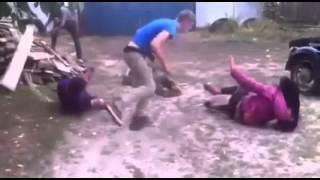 1 Man vs. 4 Fight in Russia