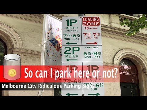Only Genius Can Solve This | Melbourne City Parking Signs