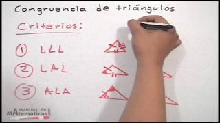 Triángulos congruentes│criterios