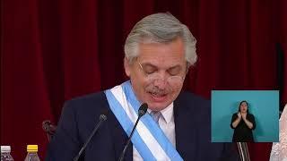 El discurso completo de Alberto Fernández en la asunción como presidente