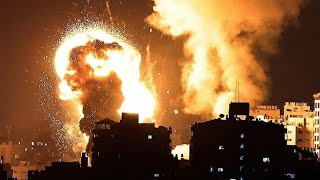 IDF Making A Building Flat, In It's War Against Hamas Terrorists, Firing Rockets Into Israel