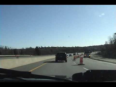Driving Highway 102 Around Halifax, Nova Scotia