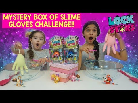 MYSTERY BOX of SLIME GLOVES CHALLENGE with Surprise LOCKSTARS!!