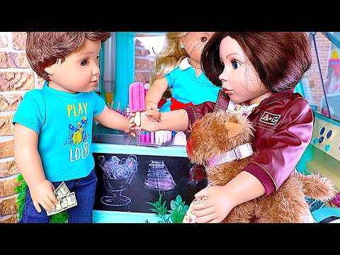 Play American Girl Doll Morning Routine Dog Puppy Birthday Muddy Accident!