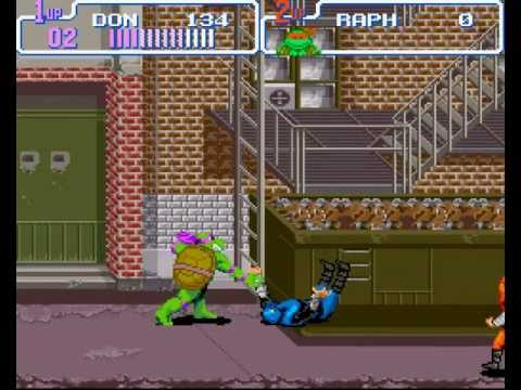 Teenage Mutant Ninja Turtles IV: Turtles in Time  Walkthrough/Gameplay Super Nintendo