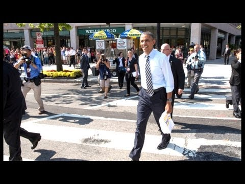 Смотреть President Obama Walks The Streets Of Washington онлайн