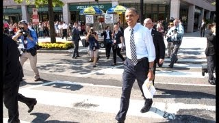 President Obama Walks The Streets Of Washington thumbnail