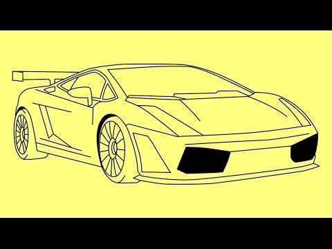 How to draw Lamborghini Aventador step by step – Как нарисовать Ламборджини Авентадор