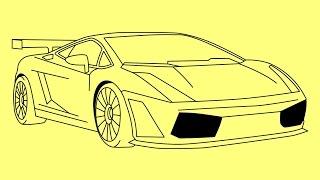How to draw Lamborghini Gallardo step by step - Как нарисовать Ламборджини Галлардо(How to draw a car Lamborghini Gallardo step by step - Как нарисовать машину Ламборджини Галлардо - Como desenhar um carro Lamborghini Gallardo ..., 2015-03-19T00:42:04.000Z)