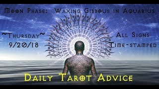 9/20/18 Daily Tarot Advice ~ All Signs, Time-stamped
