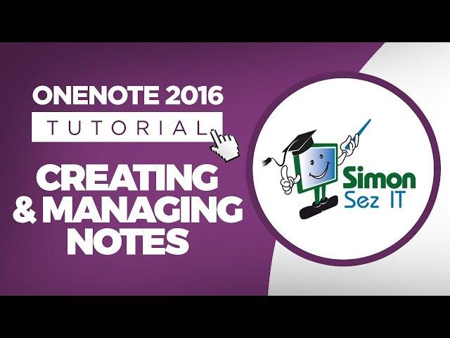 Microsoft OneNote 2016 Training Tutorials for Beginners