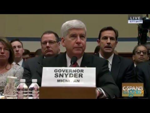Rep. Elijah Cummings and Rep. Matt Cartwright GRILL Gov. Rick Snyder over Flint Debacle