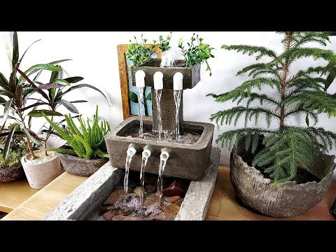 How to make amazing beautiful super cemented waterfall fountain water fountain