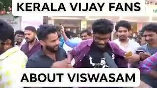 Kerala vijay fans celebrating viswasam movie