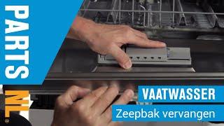 Zeepbak vervangen van vaatwasser, PartsNL uitleg