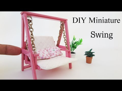 DIY Miniature Cute Swing  -  dollhouse -  Miniature crafts ideas