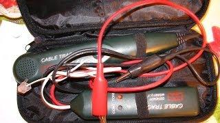 Как найти обрыв кабеля без вскрытия оболочки(В видео показано как пользоваться кабель - трекером/тестером. Таким способом можно выявить любой обрыв..., 2014-04-09T20:37:21.000Z)