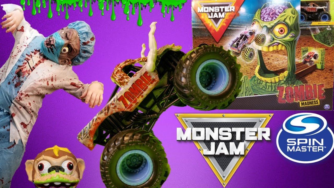 Monster Jam Monster Trucks Zombie Madness Playset By Spin Master Toys For Kids Youtube