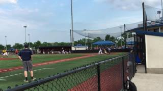 Kevin Slick Hits Long Fly for ASBA vs Youth Service League