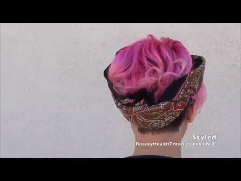 Haircolor Pink Ombre From Darker Roots To Lighter Hair Ends