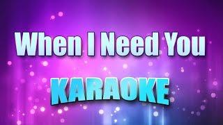 Sayer, Leo - When I Need You (Karaoke & Lyrics)