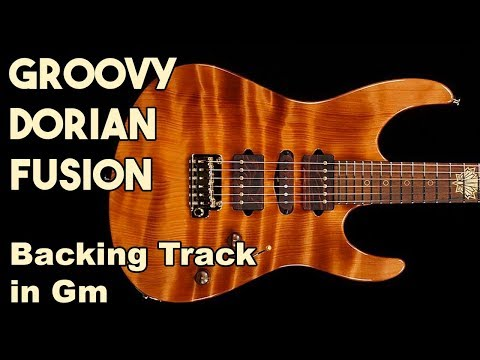 Groovy Dorian Fusion Backing Track in Gm #SZBT 51
