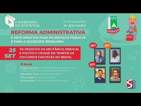 II Webnário do Sintietfal: Reforma Administrativa (parte 4)