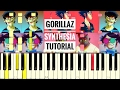 Gorillaz Busted And Blue Reggiewatkins Piano Synthesia TUTORIAL mp3