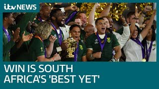 Francois Pienaar: South Africa's Rugby World Cup victory is country's greatest yet | ITV News