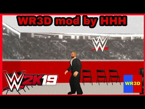 WR3D 2K19 by HHH- Go Anywhere + New Backstage and 35+ arenas new textures  furniture weapons and song