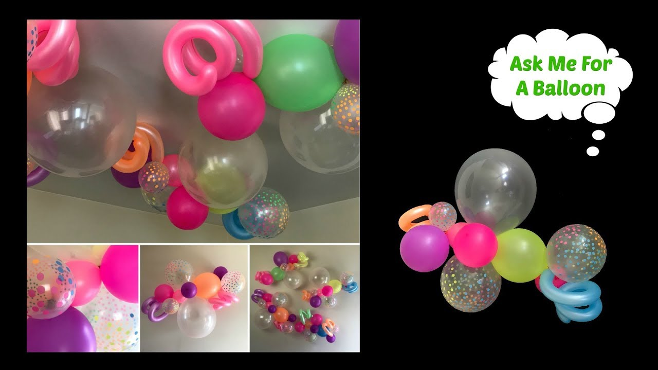 Confetti Balloon Decoration Idea For Wall Or Ceiling