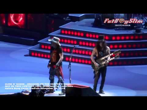 GUNS N' ROSES - KNOCKIN' ON THE HEAVEN'S DOOR Live In JAKARTA 2018 NOT IN THIS LIVE TOUR 2018