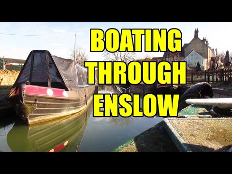 A Winter Narrowboat Trip Through Enslow, on the Oxford Canal
