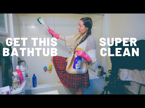 Deep Cleaning The Bathtub   CLEANING LIFESTYLE FOR MOMS  