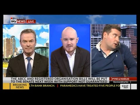 Pyne & Marles technical issues 'Oh shit ..that took Marles off air'