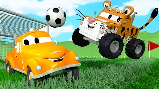 Autogaráž pro děti - Z Marleyho je tygr - Tomova Autolakovna ve Městě Aut 🎨 Animáky pro děti