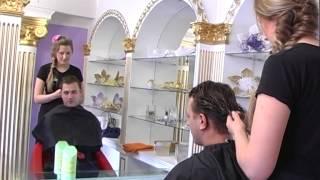 """Нелли Ермолаева и Никита Кузнецов (участники """"Дом 2"""") в салоне красоты """"Кинозвзеда"""""""