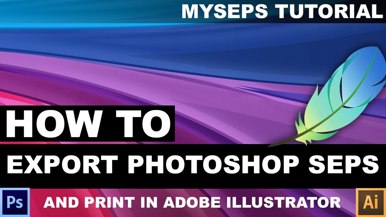 How To Output A Photoshop Raster Color Separation In Adobe Illustrator CC